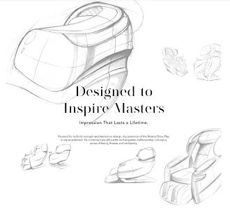 Schetsen design stoelmassage stoel
